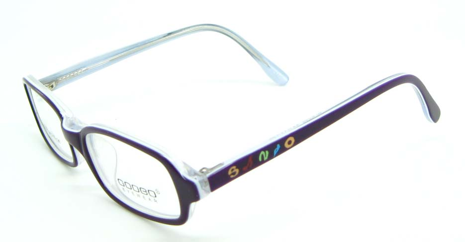 purple plastic rectangular glasses frame JNY-BL6239-C175