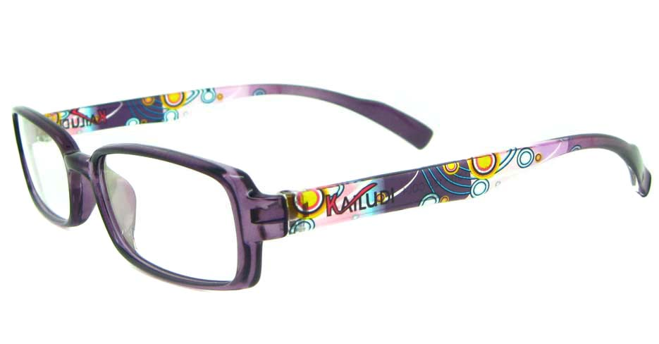 purple rectangular tr90 glasses frame YL-KLD8007-C4