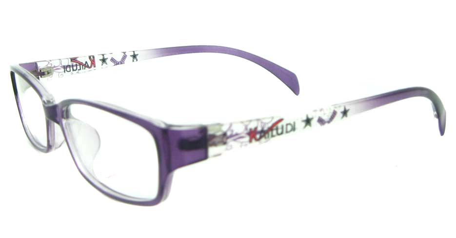 purple tr90 Rectangular glassses frame YL-KDL8047-C4
