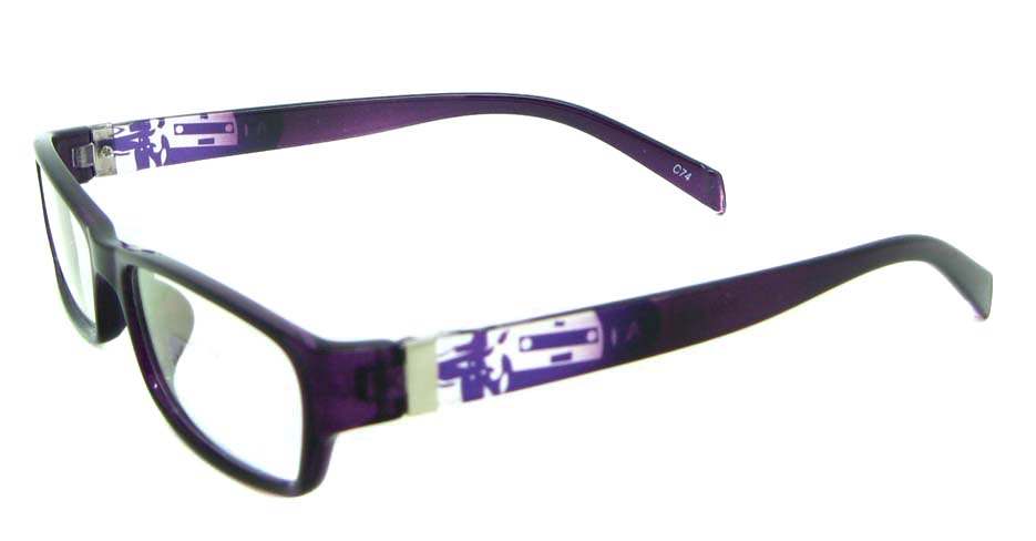 purple tr90 rectangular glasses frame JNY-ASD2155-C74