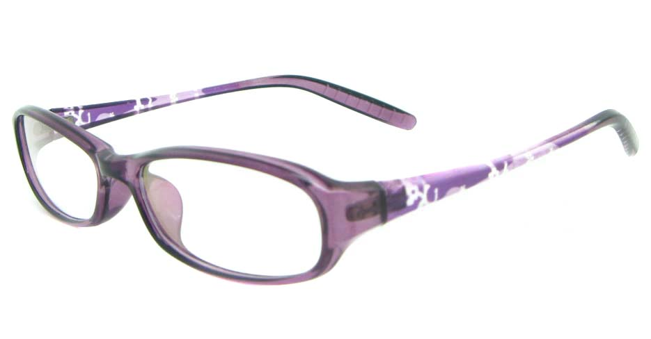 purple tr90 rectangular glasses frame YL-KLD8022-C4