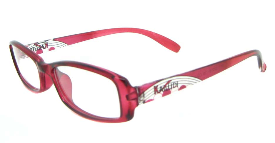 red Acetate Rectangular glasses frame YL-KLD8017-C3