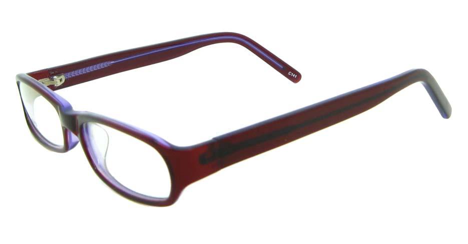 red Rectangular plastic glasses frame JNY-BL6139-C141