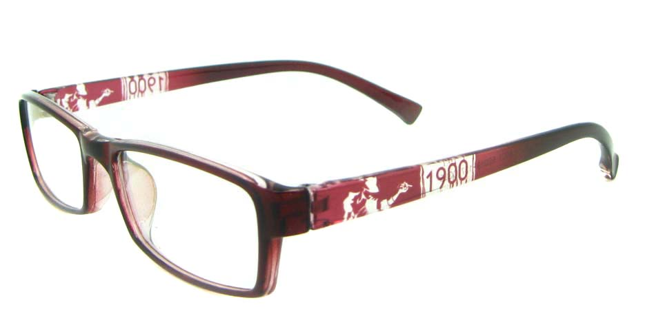 red Rectangular tr90 glasses frame YL-KLD8001-C5