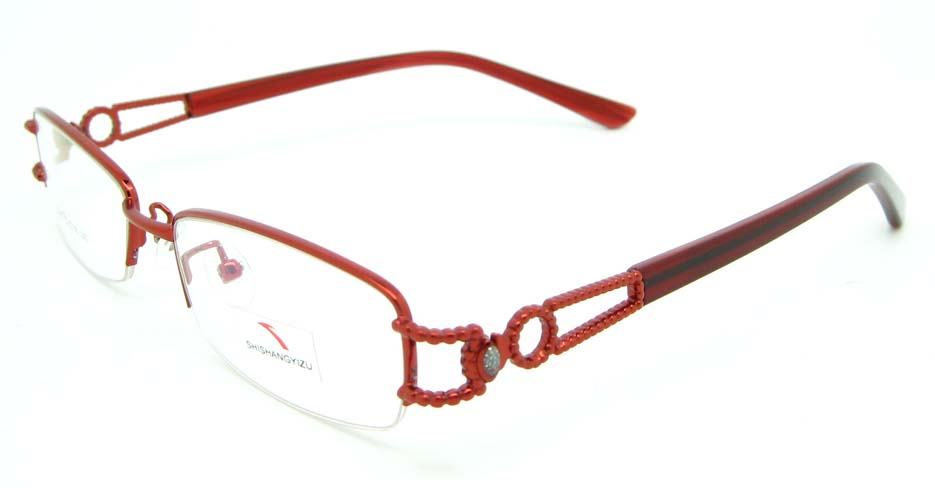 red blend rectangular glasses frame JNY-SSYZ2146-H