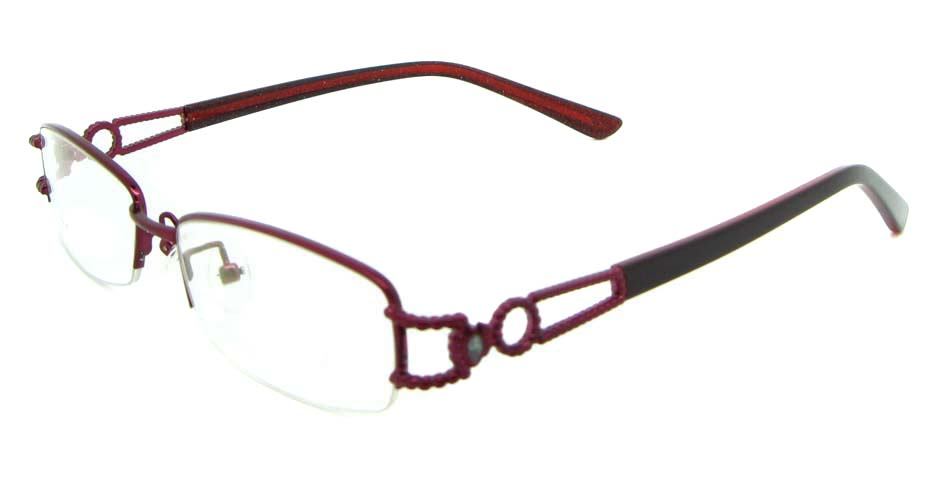 red blend rectangular glasses frame JNY-SSYZ2146-ZHS