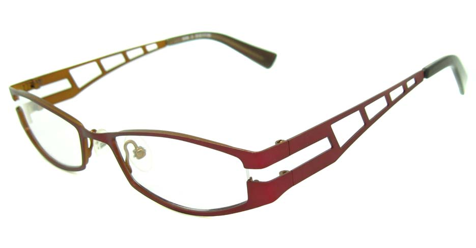 red metal rectangular glasses frame  HL-4238