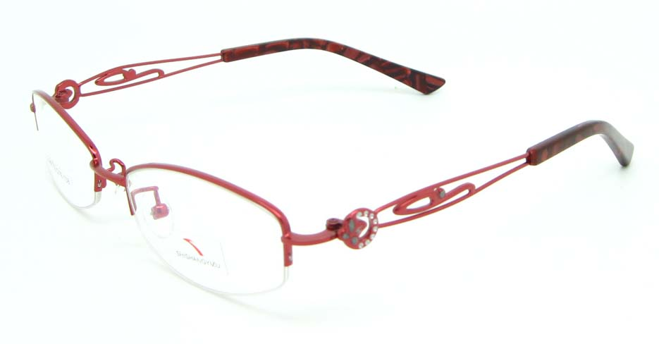 red oval metal glasses frame JNY-SSYZ2149-H