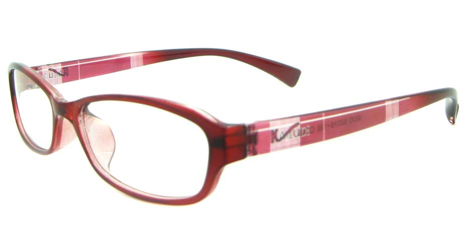 red oval tr90 glasses frame YL-KDL8030-C5