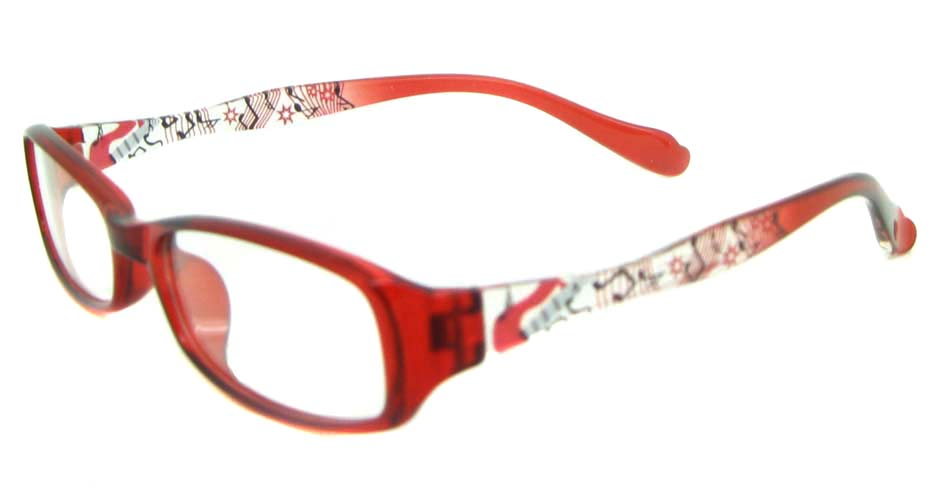 red oval tr90 glasses frame YL-KLD8024-C5