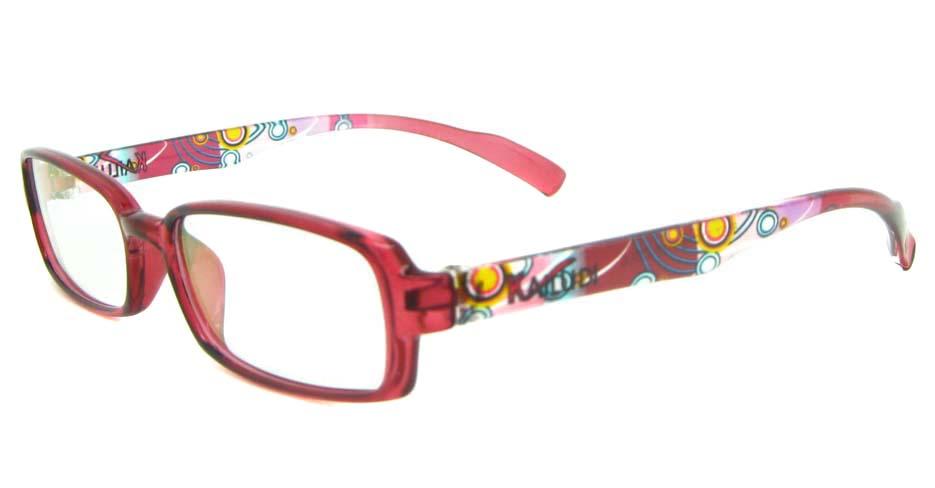 red rectangular tr90 glasses frame YL-KLD8007-C6