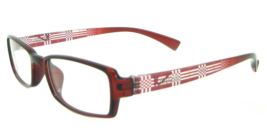 red tr90 rectangular glasses frame YL-KLD8005-C5
