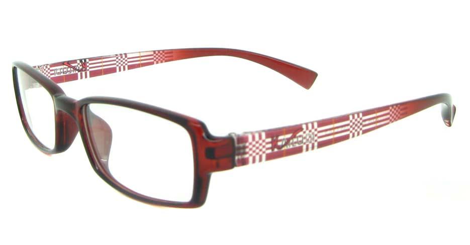 red tr90 rectangular glasses frame YL-KLD8005-C5