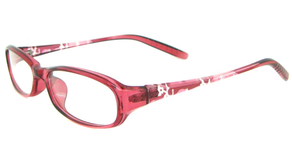red tr90 rectangular glasses frame YL-KLD8022-C5