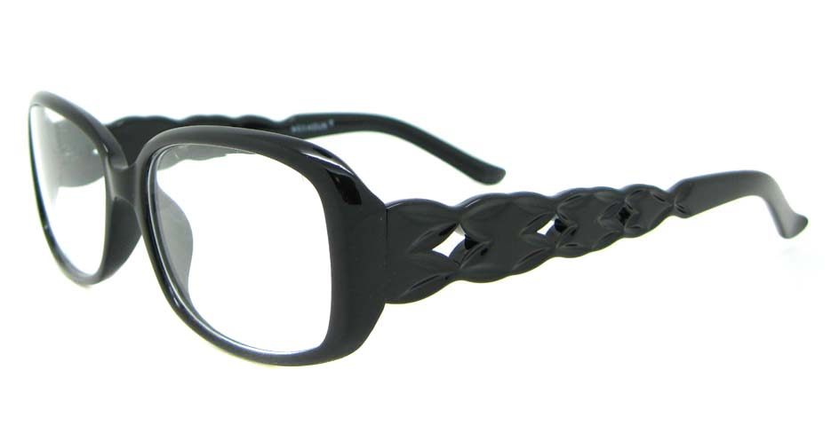 retro black oval plastic glasses frame  WLH-301-C4