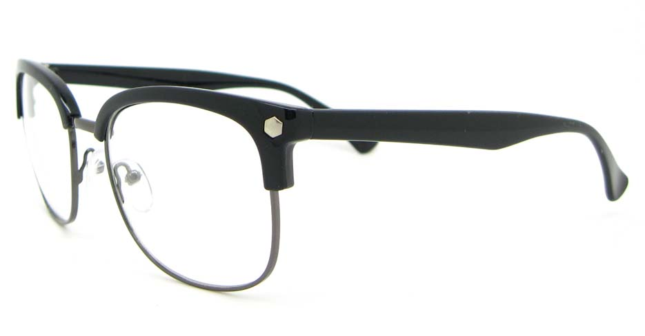 retro blend black oval glasses frame  WLH-QS010-C1
