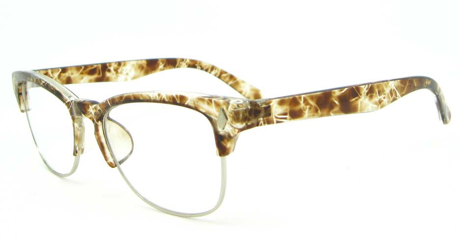 retro oval Tortoise blend glasses frame WLH-0026-C6