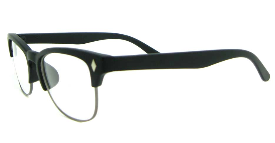 retro oval black blend glasses frame WLH-0026-C2
