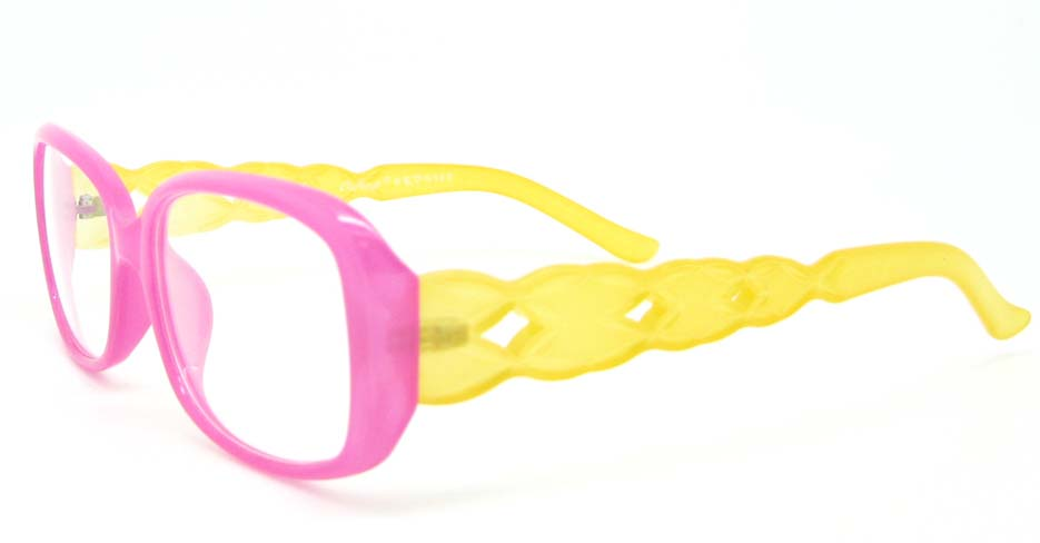 retro plastic over fashion pink glasses frame WLH-7105-C10