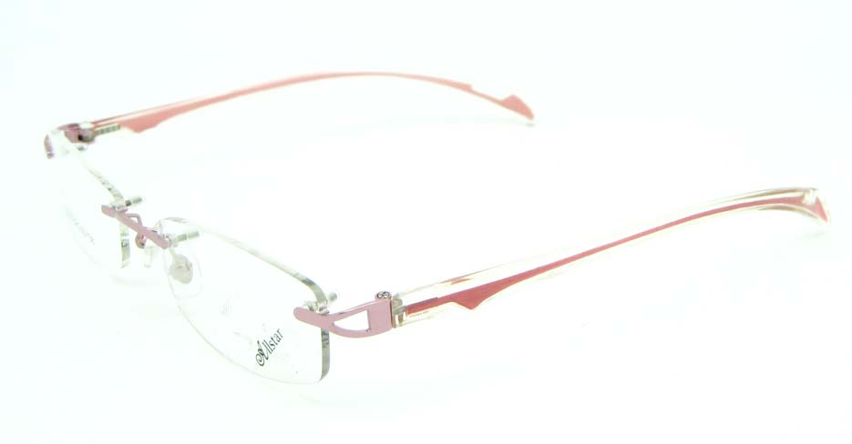 rimless pink rectangle blend glasses frame JNY-JIONG1218-Z