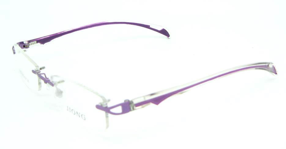 rimless purple  rectangle blend glasses frame JNY-JIONG1218-Z