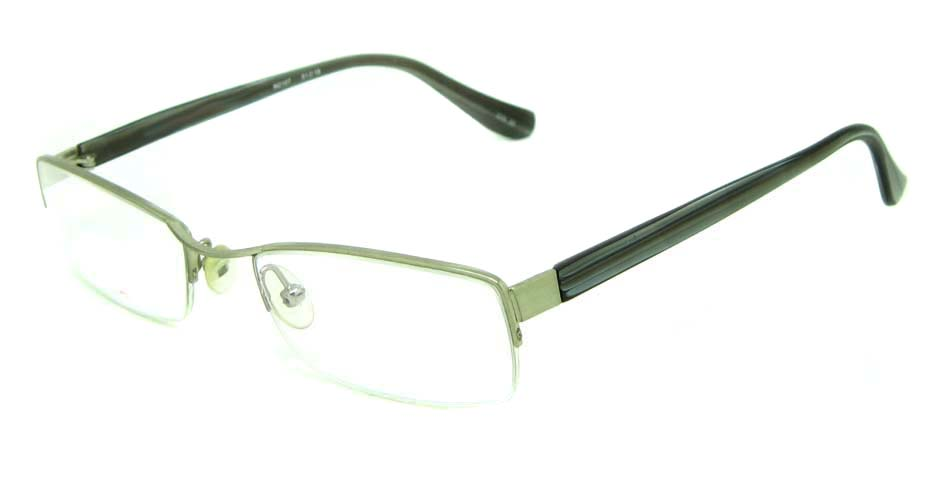 silver blend rectangular glasses frame HL-M2107-22