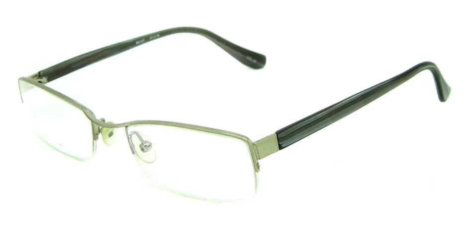 silver blend rectangular glasses frame HL-M2107-22
