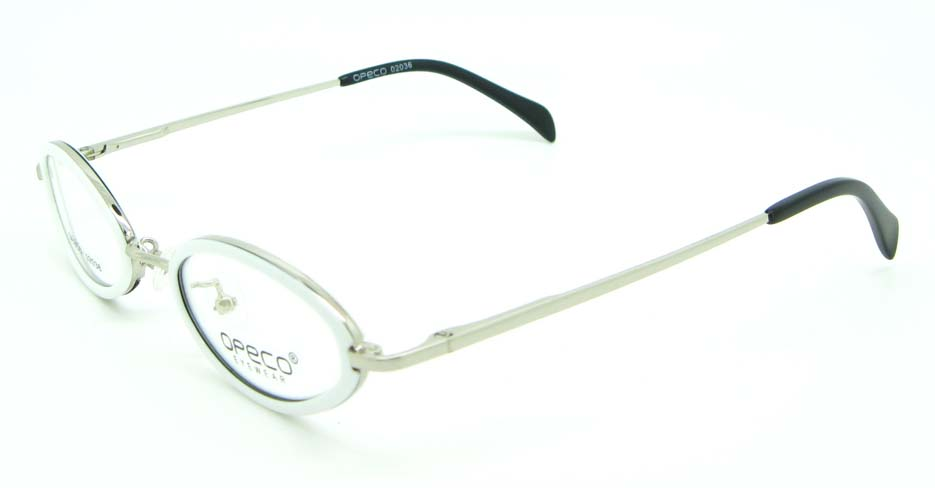 silver blend round glasses frame JNY-02036-BS