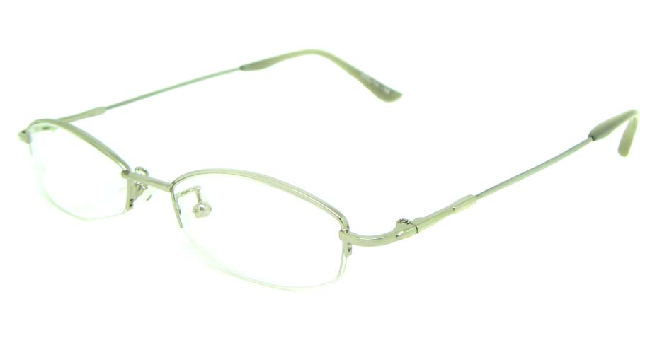 silver metal oval  glasses frame JS-LJS9919-Y