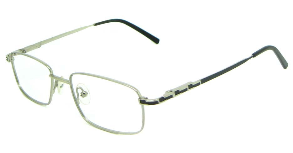 silver metal oval glasses frame HL-1755-003