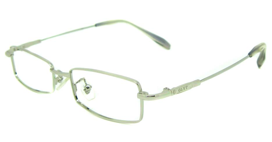 silver metal rectangular glasses frame   JS-LJS9922-Y