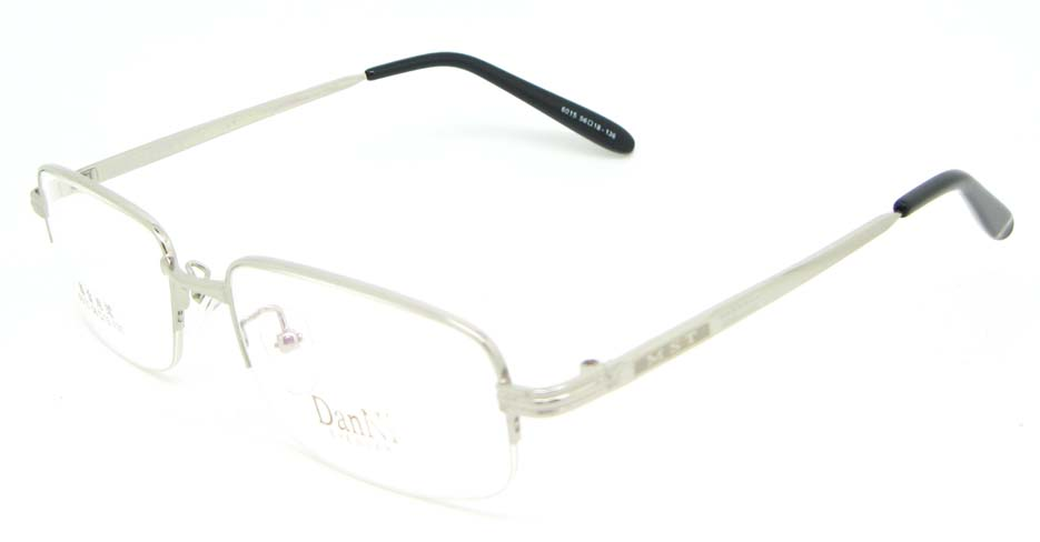 silver metal rectangular glasses frame WKY-DNI6015-Y