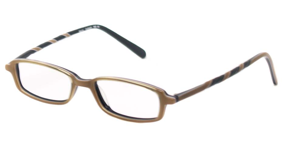 tea acetate rectangular glasses frame HL-1638