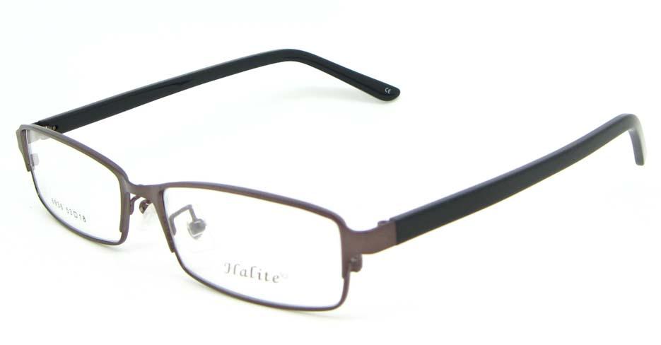 tea with black blend rectangular glasses frame WKY-XDBL6936-ZS
