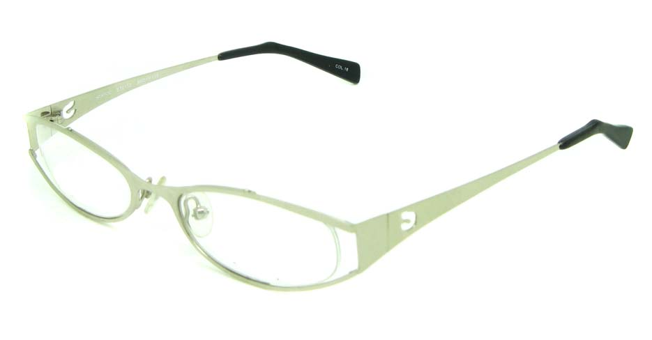 white metal oval glasses frame HL-ST2172-18