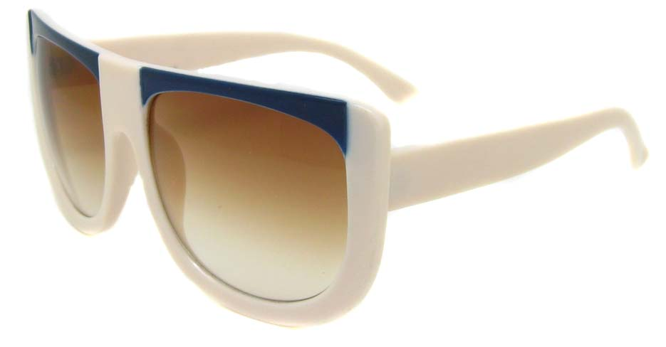 white oval acetate big  retro glasses frame LF-FG004-BL