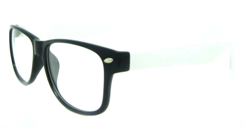white with black plastic oval glasses frame YL-KLD8081-C3