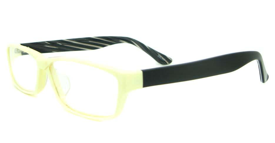 yellow with black Rectangular Acetate glasses frame YL-JB8312-C530