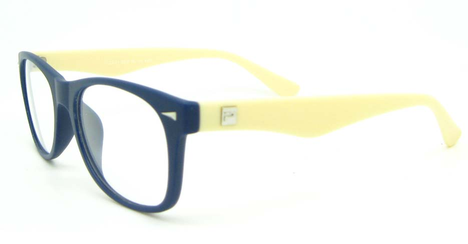 yellow with blue plastic oval glasses frame WLH-2211-K65