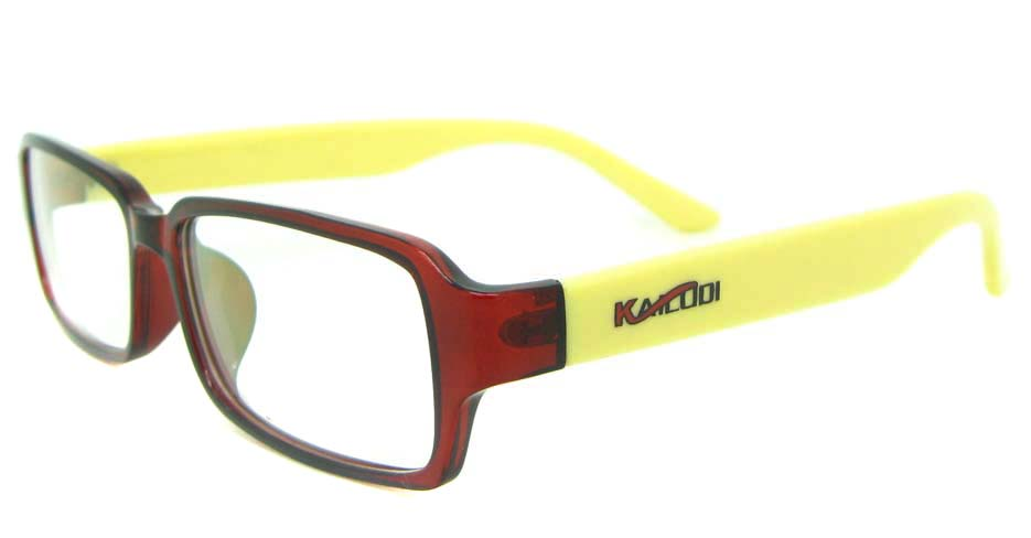 yellow with red tr90 Rectangular glasses frame YL-KDL8050-C6